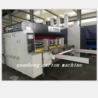 QH high speed corrugated carton lead edge feeder flexo Printing Die Cutting Machine