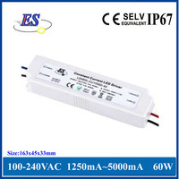 60W AC-DC Constant Current LED Driver Power Supply