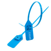 Security Plastic Tamper Proof Seals Numberd Adjustable Self-Locking Tag Container Label (SL-05FBLue)