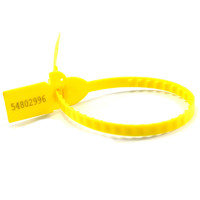 Plastic Security Seals Zipper Ties Tamper Proof Locking Tag Numberd (SL-07F Yellow)