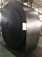 180 degree Heat Resistant Rubber Nylon fabric Conveyor Belt For Cement Plant