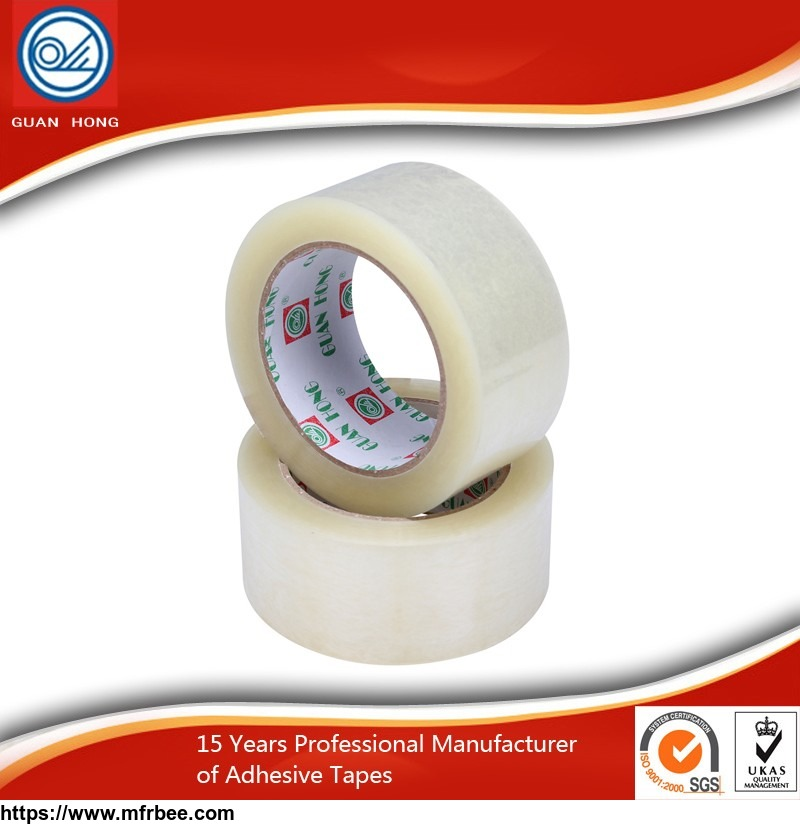 China Supplier Factory Price Clear Bopp Packing Carton Sealing Adhesive Tape