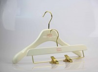 deluxe wooden top and bottom hanger for women clothes