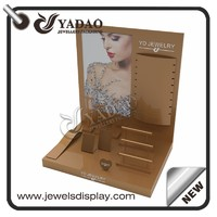 more images of customize lacquer wooden jewelry display set design for jewelry counter
