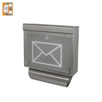 Newspaper metal lock wall mail box