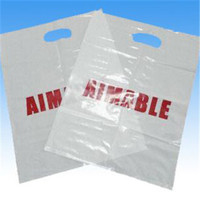 Customized strong strength LDPE die cut handle flat shopping bags