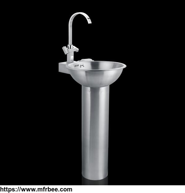 Stainless-steel-columnar-wash-basin