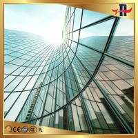 self-clean tempered building glass wall