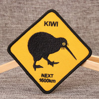 Kiwi Custom Embroidered Patches