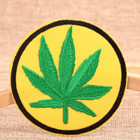 Marijuana Leaf Custom Patches