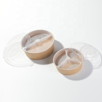 Hot Product Commercial 500ml-1300ml Different Size Biodegradable Salad Bowl / Kraft Salad Bowl Container