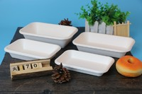 Cheap biodegradable disposable sugarcane bagasse food dinnerware container to go take away box disposable food containers