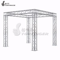 flat frame structure aluminium curved lighting stage roof truss