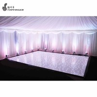 Elegant white twinkle water proof new interactive wedding led dance floor for sale