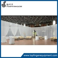 Aluminum cheap wedding backdrop pipe and drape frame for sale