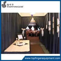 Wedding Adjustable Backdrop Photo Exhibition Event Black Trade Show Booth Pipe And Drape