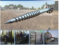 more images of Solar mounting ground screw with flange made of hot-dip galvanized carbon steel