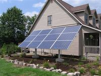 Adjustable solar power ground mounting  aluminum system for home off-grid solar project