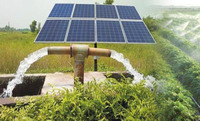 Adjustable solar power ground mounting system for solar water pump project