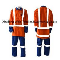 Anti Arc Flash Fire Retardant Suit / flame Retardant protective workwear With Reflector/safety clothes