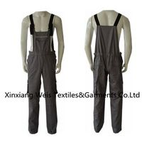 Breathable Khaki Fr Bib Overall / Fr Rated Safety Bib Overalls/anti Flash Protective clothes