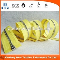 high quality types teeth widely used fire retardant zipper