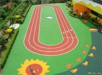 IAAF prefabricated rubber EPDM kindergarden play floor school jogging running track