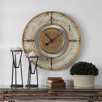 Ezekiel Wall Clock by Uttermost NEW