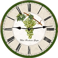 Grapes Vintage Wall Clock