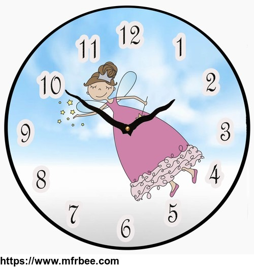 Fairy Wall Clock Childrens