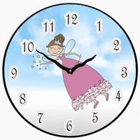 more images of Fairy Wall Clock Childrens
