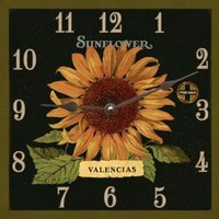 Valencias Sunflower Square Wall Clock
