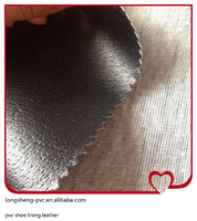 more images of High quality pvc shoe lining leather made in China