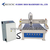 RICOCNC MDF Board Cutting Machine Wood CNC Router with Vacuum Table W1325V