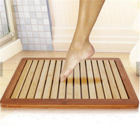 High quality new Natural Heavy-Duty Bamboo Shower Floor and Bath Mat