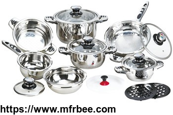 16pcs_wide_edge_outside_mirror_polished_stainless_steel_cookware_set