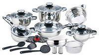 Hot sale 23pcs non-stick 7 step induction bottom cookware set