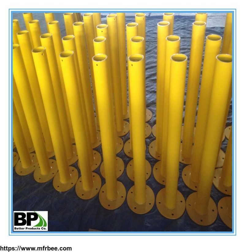 steel_pipe_safety_bollard_with_anchor_bolts