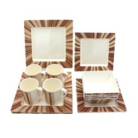 Cheap price 72 piece dinnerware set square plates and bowl japanese asian dinner sets with mug