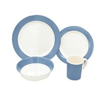 Factory direct price tableware korean dinnerware set blue melamine dinner party sets