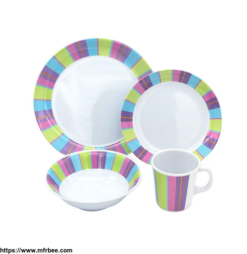 72pcs_france_nontoxic_plastic_dinner_ware_melamine_party_table_set_16pcs_with_plates_and_mug