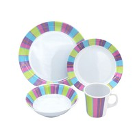 72pcs france nontoxic plastic dinner ware melamine party table set 16pcs with plates and mug