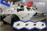 China industrial vehicle bulletproof ceramic composite armor panel supplier