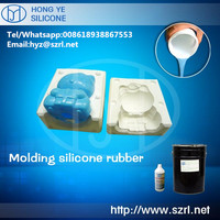 liquid tin cure silicone rubber for small crafts mold making