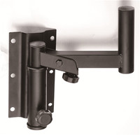 Dual Universal Wall Mount Speaker Bracket Stands with Angle Adjustable