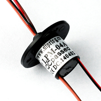miniature slip ring with compact design , 4 circuits used for LED lighting