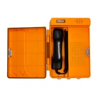 Plastic waterproof dustproof telephone adjustable to wall with protective cover industrial telephone-JWAT304