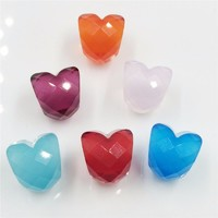 Faceted Glass Beads Fit for DIY Charm Shape Of Love