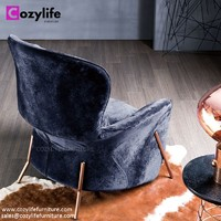 Modern design high back comfy lounge chair for living room and bedroom