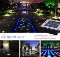 Underground LED lighting, exterior garden buried lamp, decorating under floor light